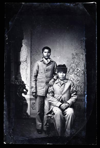 Two unidentified male students #1, c.1882