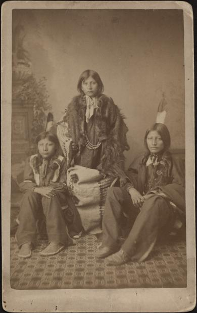 Wounded Yellow Robe, Timber Yellow Robe, and Henry Standing Bear, 1883, #1 [before]