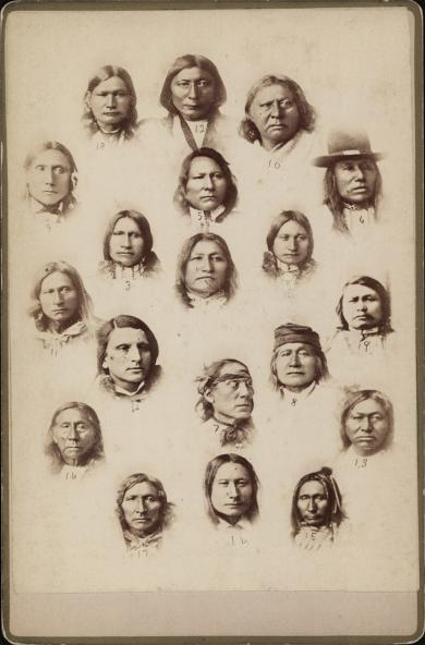 Indian Chiefs who visited the Carlisle Indian School [version 2] c.1881