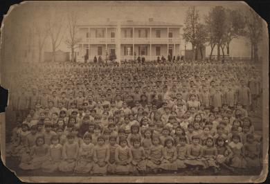 Carlisle Indian School Student Body, c.1885
