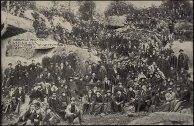 Carlisle Indians at the Battlefield of Gettysburg