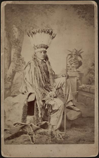White Buffalo in headdress with bow and arrow (pose #1) [version 1], 1881