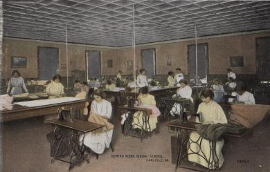 Girls in the Sewing Room, c.1905