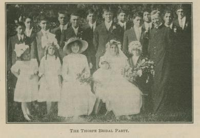 Jim Thorpe and Iva Miller Bridal Party, 1913