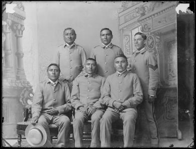 Six unidentified male students #4 (version 1), c.1885