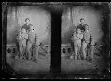 Three unidentified male students #2, c.1880