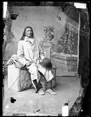 Spotted Tail after his return from Washington [version 1], c.1880