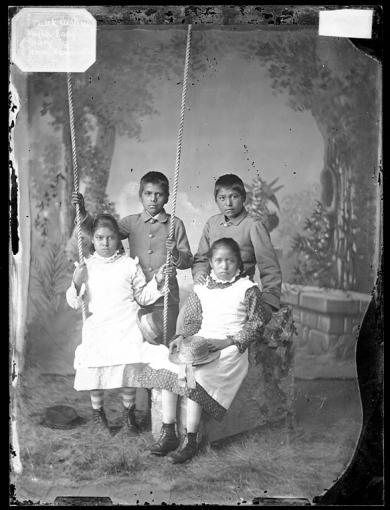 Frank Cushing, Taylor Ealy, Mary Ealy, and Jennie Hammaker [version 1], c.1880