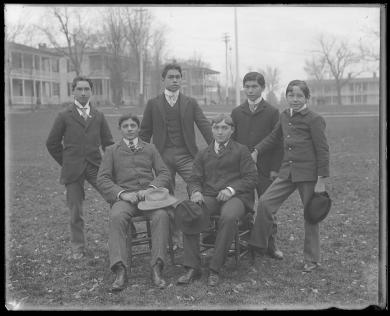 Six unidentified male students #1, c.1895