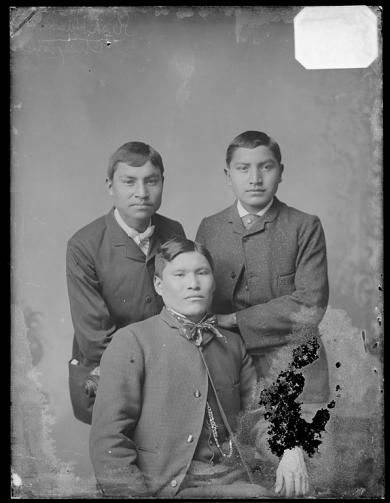 Kish Hawkins, Kise (Red Wolf), and Clarence Wolf Face [version 1], c.1884