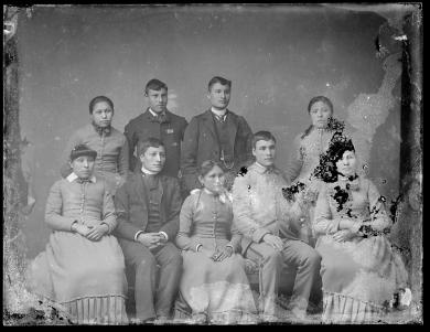 Nine unidentified students #1, c.1890