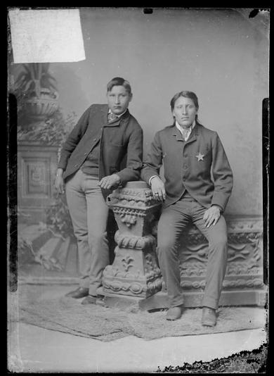 Alex Manabove and Little Chief, c.1885