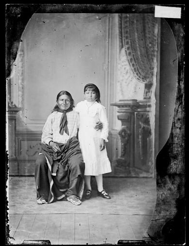Grace Cook with her father [version 1], c.1880
