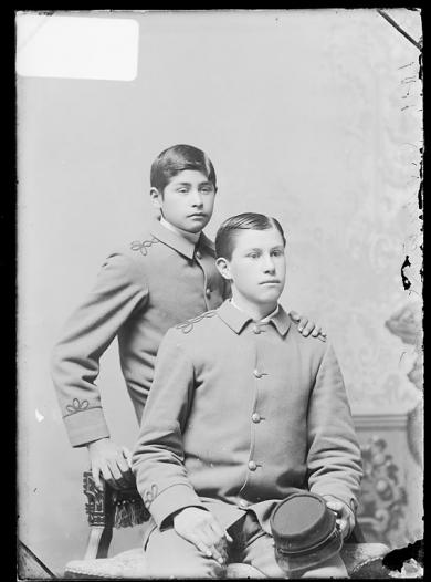 James King and Louis King, c.1889