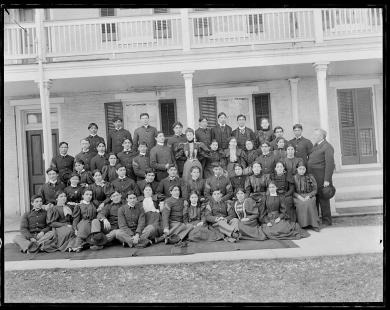 Large group of male and female students #4, 1893