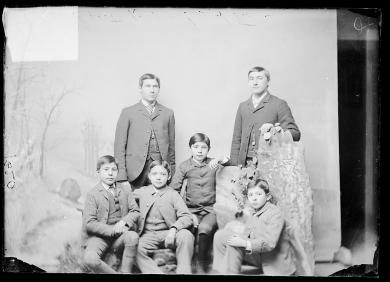 Six unidentified male students #3, c.1890