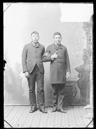 Kise (Red Wolf) and an unidentified male student, c.1884