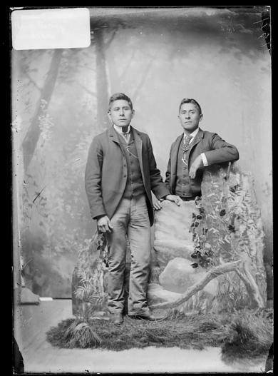 Frank Everett and Percy Zadoka, c.1885