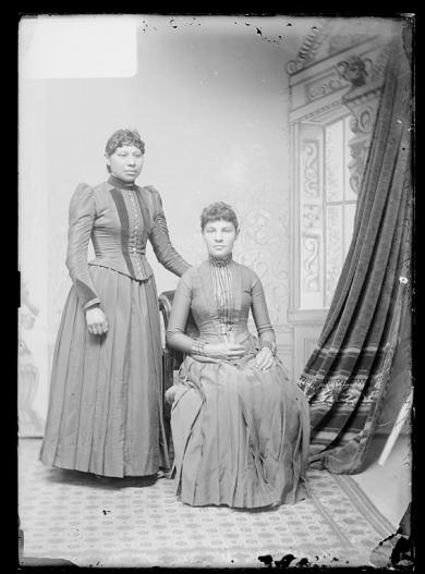 Jennie Mitchell and Jennie Dubray, c.1889