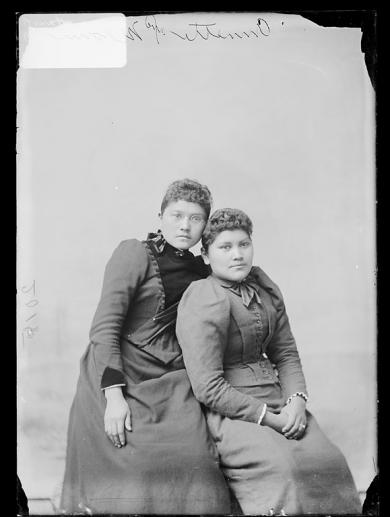 Annette Suisson and Naomi Merkel [version 1], c.1892