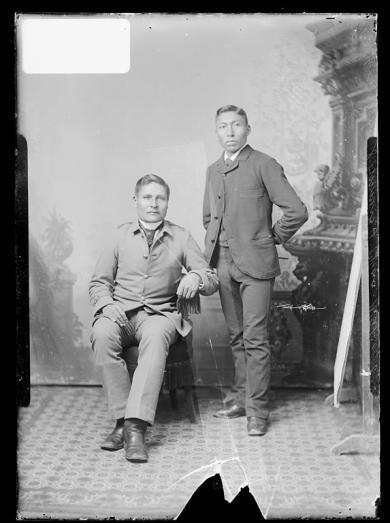 Abe Sommers and Charles Dakota, 1888
