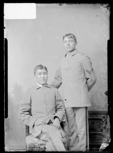 Casper Edson and an unidentified male student, c.1883