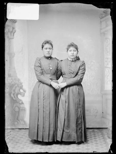 Emily and Lucy Guitar, c.1890