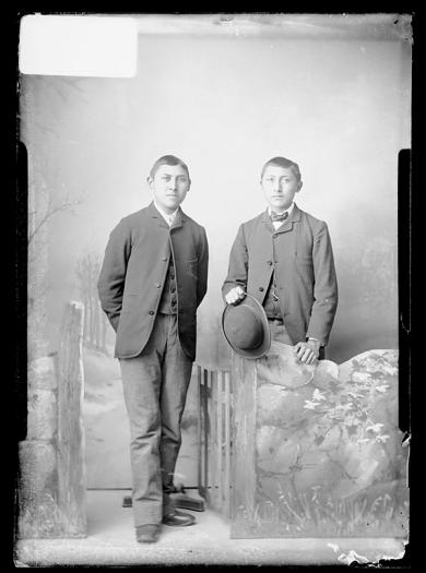 Mark White Shield and Charley White Shield, c.1886