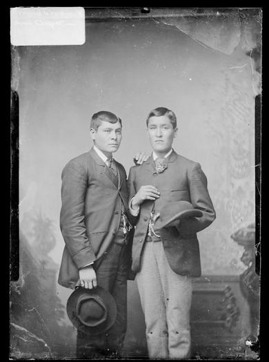 Arnold Woolworth and Casper Edson [version 1], c.1885