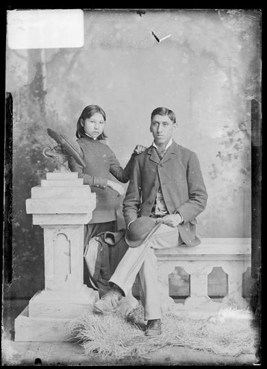 Julia Given and Joshua Given, c.1882