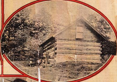 "Log Cabin Where ""Sick Feast"" Was Held, 1911"