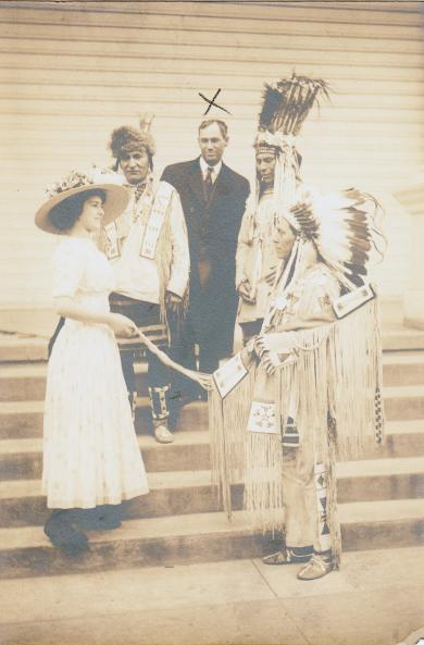 Robert H. J. Hamilton at Ceremony, c.1910