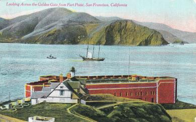Looking Across the Golden Gate in San Francisco, CA, 1915