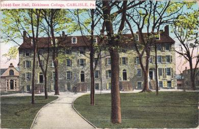 East College, Dickinson College, c.1914