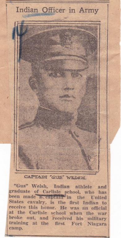 Captain Gus Welch, 1918