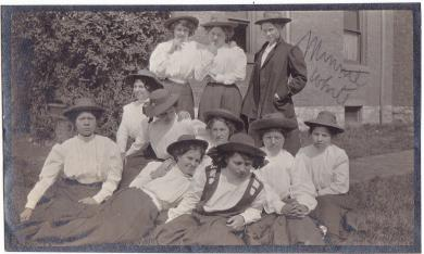 Minnie White with Group, #2, c.1911