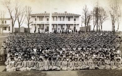 Carlisle Indian School Student Body, 1884