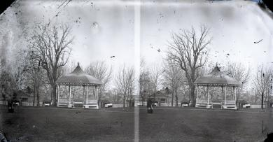 Band stand on school grounds, c.1881