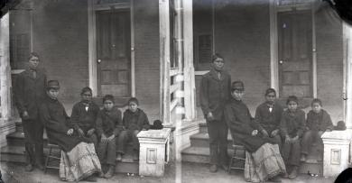 Five Sioux students, c.1879