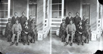 Seven Kiowa students, c.1879