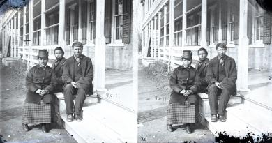 Guy (Bear Don't Scare), James (White Man), and Maggie (Stands Looking), c.1879