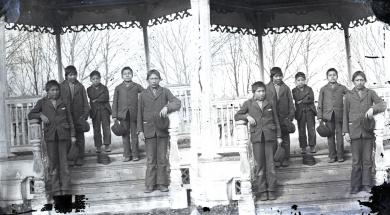 Five young male Sioux students, c.1879