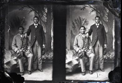 Two unidentified male students (David Group) #20, c.1883