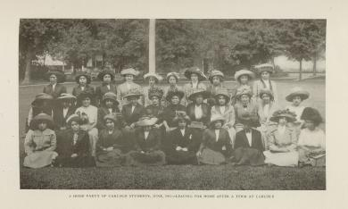 A Home Party of Carlisle Students, June 1911