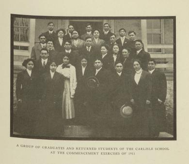 A Group of Graduates and Returned Students