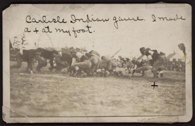 Carlisle Indian Football Game, c.1910
