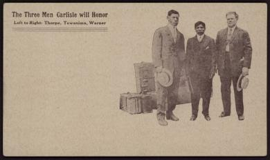Olympic Heroes, The Three Men Carlisle Will Honor, 1912
