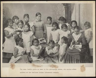 Pueblo girls, c.1890 [after]