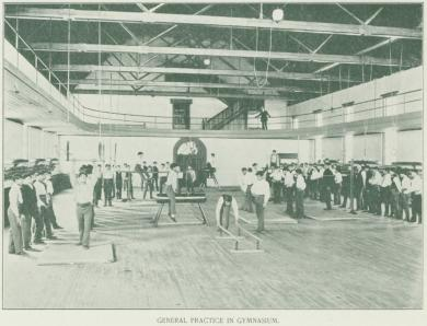 Students Practicing in Gymnasium
