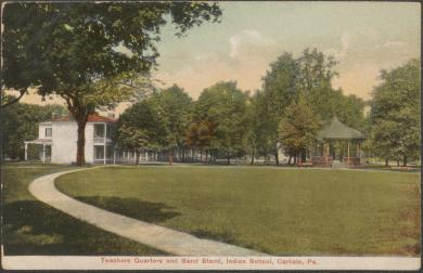 Teachers Quarters and Band Stand, c.1908